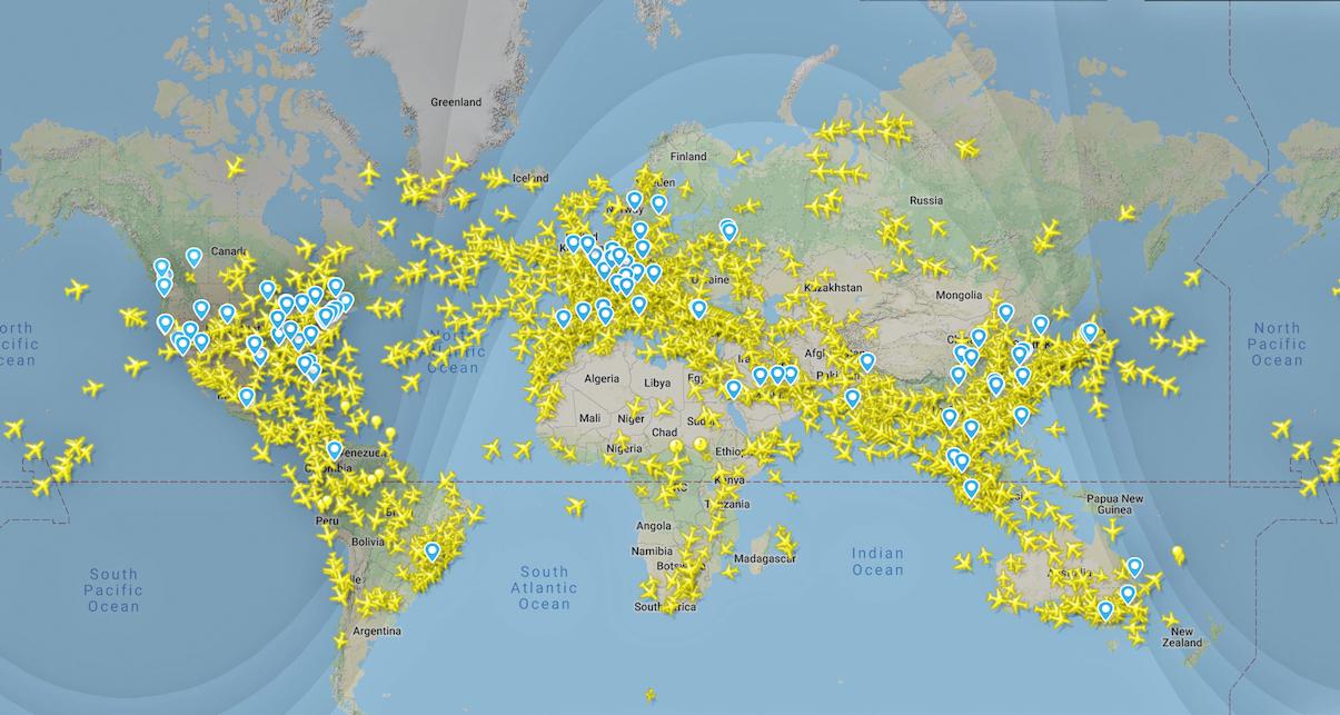 Flüge weltweit flightradar24